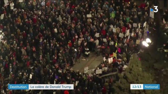 États-Unis : menacé de destitution, Donald Trump laisse éclater sa colère