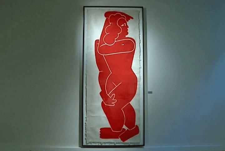 """""""Grand nu rouge XI"""" Marco Del Re  (Culturebox / Capture d'écran)"""