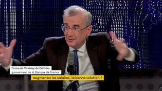 François Villeroy de Galhau, gouverneur de la Banque de France, le 19 octobre 2021 sur franceinfo. (FRANCEINFO / RADIO FRANCE)