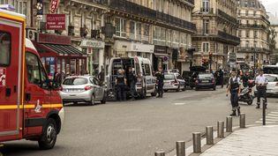 Une fausse alerte attentat a eu lieu rue Saint-Denis à Paris, le 17 septembre 2016. (MARTIN BERTRAND / HANS LUCAS / AFP)