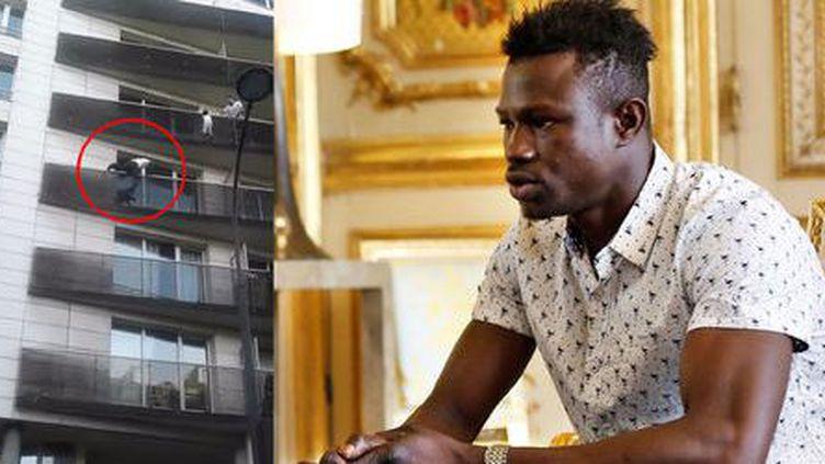 Mamoudou Gassama, jeune malien de 22 ans devenu héros à Paris après avoir sauvé la vie d' un enfant de quatre ans. (Capture d'écran)