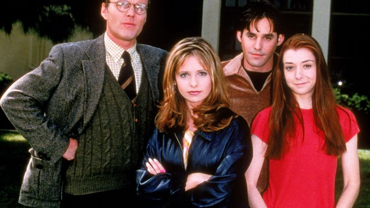 """Le casting de """"Buffy contre les vampires"""" (1996-2003). (ARCHIVES DU 7EME ART / AFP)"""