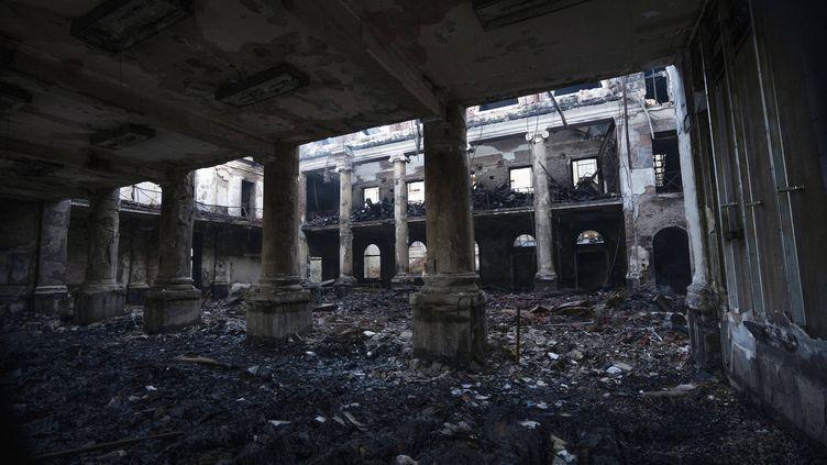 La Jagger library, bibliothèque de l'université du Cap (Afrique du Sud), ravagée par les flammes (19 avril 2021) (JEROME DELAY / AP / SIPA)