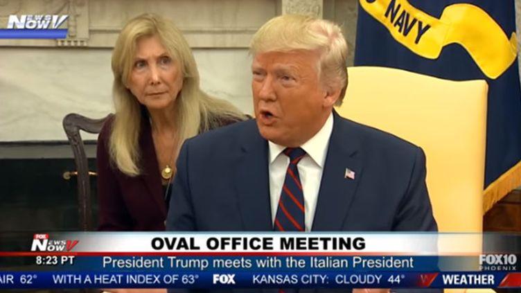 Le président américain lors d'une conférence de presse avec son homologue italien. (CATPURE ECRAN TWITTER)