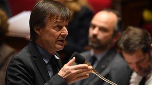 Le ministre de la Transition écologique, Nicolas Hulot, à l'Assemblée nationale, le 20 février 2018. (ERIC FEFERBERG / AFP)