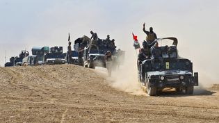 Forces irakiennes à 30 km de Mossoul le 19 octobre 2016 (AHMAD AL-RUBAYE / AFP)