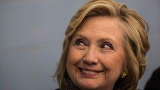 L'ancienne secrétaire d'Etat démocrate Hillary Clinton à New York le 1er avril 2015. (ANDREW BURTON / GETTY IMAGES NORTH AMERICA)