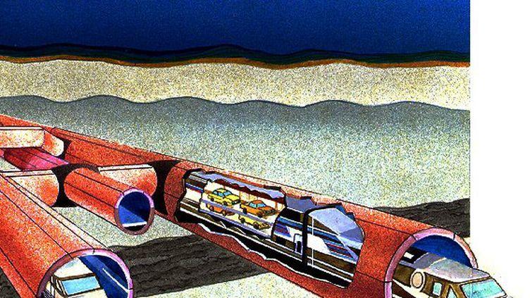 Schéma du tunnel sous la manche. (Eurotunnel SA)