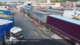Le gouvernement entend doubler la part du ferroviaire dans le fret en France. Explications. (FRANCE 2)