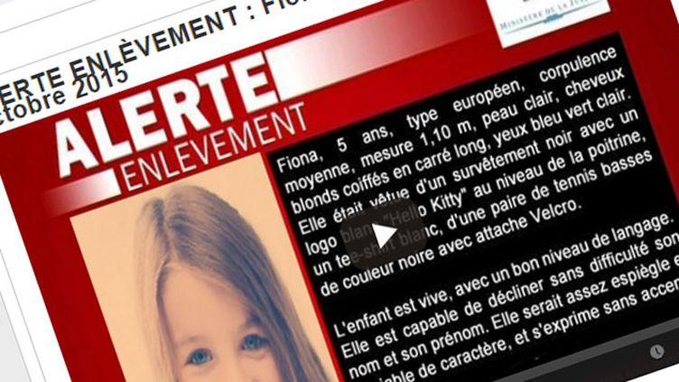 (Une fausse Alerte enlèvement partagée sur les réseaux sociaux © Capture d'écran FAcebook)