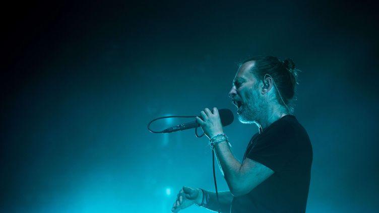 Lechanteur du groupe Radiohead, Thom Yorke, à Toronto (Canada), le 19 juillet 2018. (BOBBY SINGH/SHUTTERSTOC/SIPA / REX)