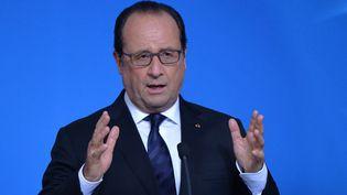 François Hollande le 23 septembre 2015 à Bruxelles (Belgique). ((DURSUN AYDEMIR / ANADOLU AGENCY / AFP)