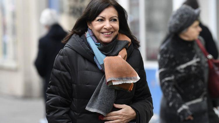 Anne Hidalgo à son quartier général de campagne, à Paris, le 13 janvier 2020. (BERTRAND GUAY / AFP)