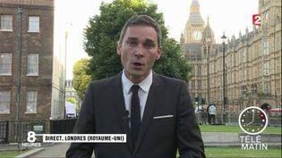 Loïc de la Mornais, correspondant de France 2 à Londres. (FRANCE 2)