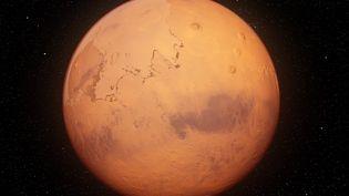 La planète rouge, Mars (illustration réalisée par ordinateur le 3 septembre 2019). (SEBASTIAN KAULITZKI/SCIENCE PHOT / SKX / AFP)
