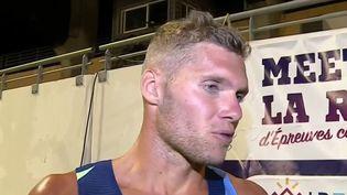 Kevin Mayer lors de son décathlon de rentrée à Saint-Paul de la Réunion