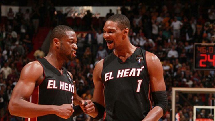 Dwyane Wade et Chris Bosh (Miami)
