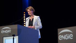 Isabelle Kocher,directrice générale d'Engie,vaporter les ambitions du groupe en matière d'électricité renouvelable  (ROMUALD MEIGNEUX/SIPA)