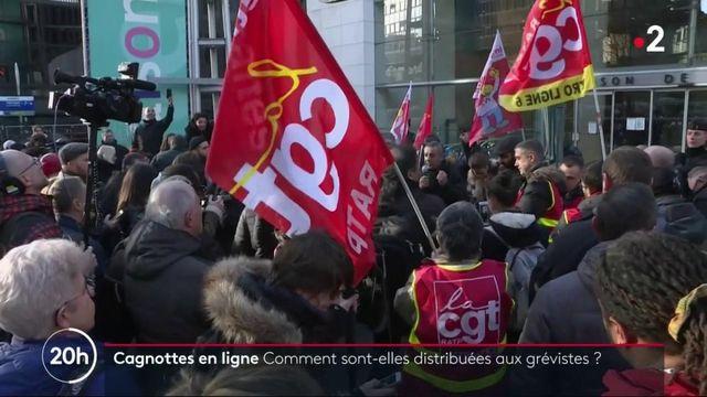 Grèves : le succès des cagnottes en ligne