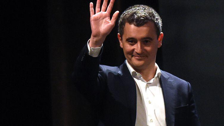 Gérald Darmanin lors de sa campagne municipale à Tourcoing (Nord), le 13 février 2020. (FRANCOIS LO PRESTI / AFP)