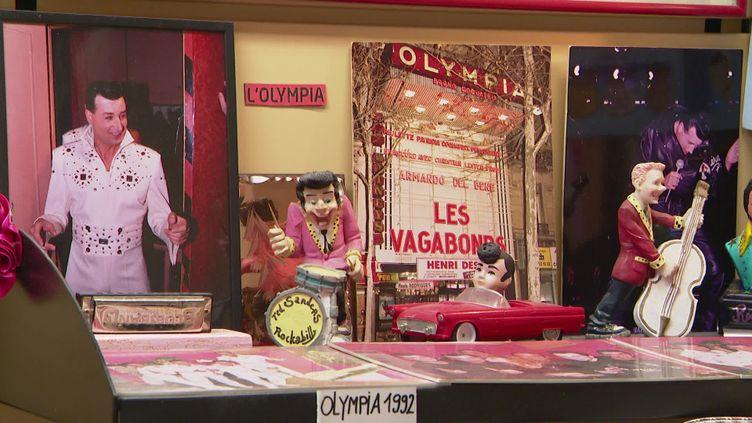 L'ex-chanteur des Vagabonds a créé son musée privé dédié au groupe, chez lui dans le Pas-de-Calais. (FRANCE 3 / CAPTURE D'ECRAN)