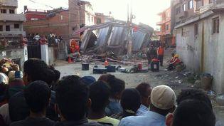 Les rues enruines à Katmandou (Népal), le 28 avril 2015. (KRISHNA GHISING)