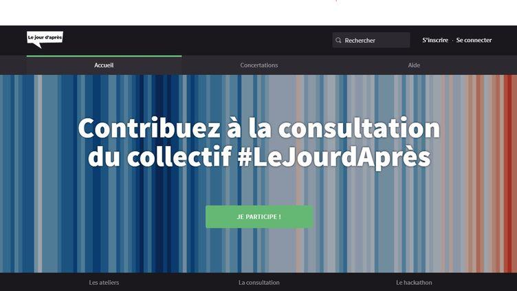 Capture d'écran du site de la consultation sur l'après coronavirus lancé par plusieurs parlementaires. (LEJOURDAPRES.PARLEMENT-OUVERT.FR)