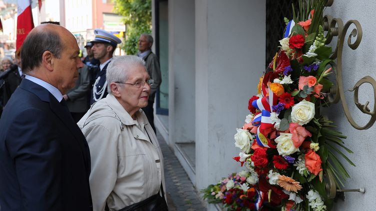Frida Wattenberg, ancienne membrede laRésistance juive, le 3 juin 2014, lors d'une cérémonie d'hommage à Annemasse (Haute-Savoie). (MAXPPP)