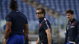 Le coach de l'équipe de France, Fabien Galthié, le 6 février 2021 à Rome. (FILIPPO MONTEFORTE / AFP)