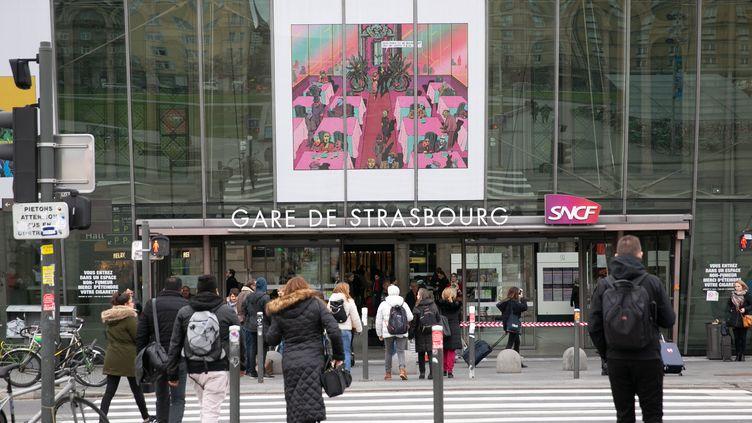 La gare de Strasbourg, le 14 janvier 2020. (FREDERIC MAIGROT/REA / REA)