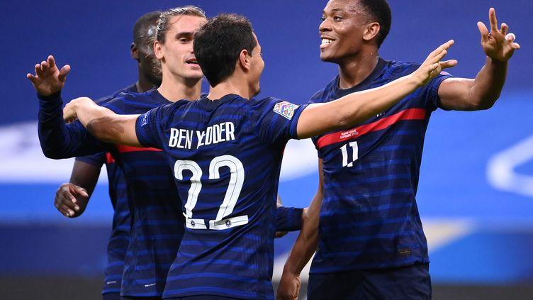 Griezmann, Martial et Ben Yedder contre la Croatie (FRANCK FIFE / AFP)