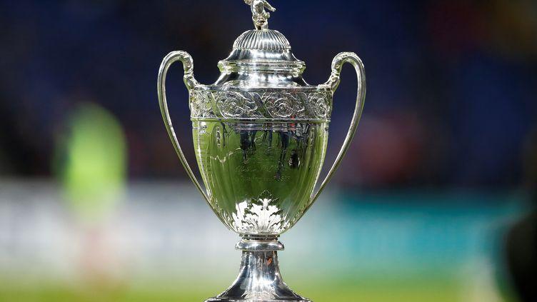 La photo montre le trophée de la Coupe de France, lors des 16e de finale entre le Paris Saint-Germain et EA Guingamp, au Parc des Princes à Paris, le 24 janvier 2018.     (CHARLY TRIBALLEAU/AFP)