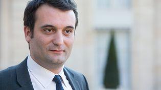 Florian Philippot, vice-président du Front national, le 16 mai 2014 dans la cour de l'Elysée (Paris). (MAXPPP)