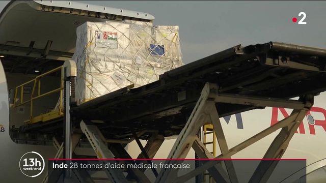 Inde : 28 tonnes de matériel médical envoyé par la France arrivent à New Delhi