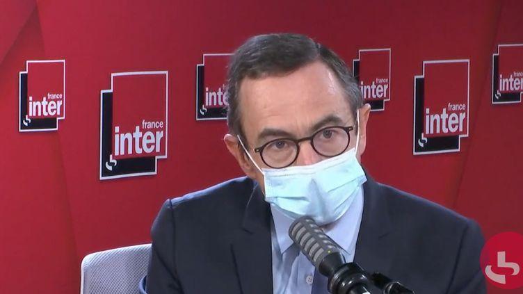 Bruno Retailleau, président du groupe LR au Sénat, sur France Inter le 7 octobre 2020. (FRANCEINTER / RADIOFRANCE)