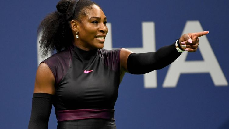Serena Williams lors des quarts de finale de l'US Open.