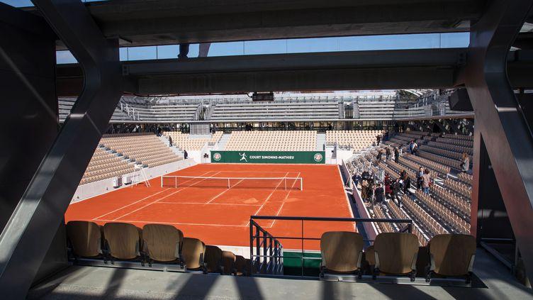 Le court de tennis Simonne-Mathieu lors de son inauguration à Roland-Garros à Paris, le 21 mars 2019 (photo d'illustration). (CHRISTOPHE PETIT TESSON / EPA)