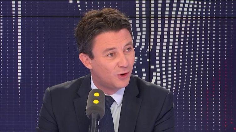 Benjamin Griveaux, secrétaire d'État auprès du Premier ministre, porte-parole du gouvernement, mardi 26 février 2019 sur franceinfo. (RADIO FRANCE)