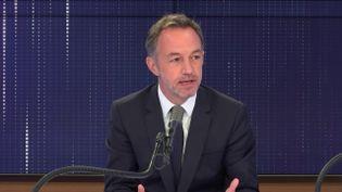 Emmanuel Grégoire,premier adjoint (PS) à la maire de Paris. (FRANCEINFO / RADIOFRANCE)