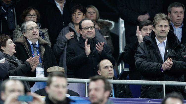 (François Hollande lors du match France - Russie, le 29 mars 2016 © MaxPPP)