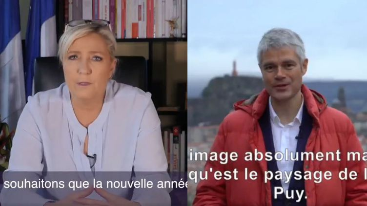 Marine Le Pen et Laurent Wauquiez ont présenté leurs vœux aux Français sur Twitter. (CAPTURE D'ECRAN TWITTER)