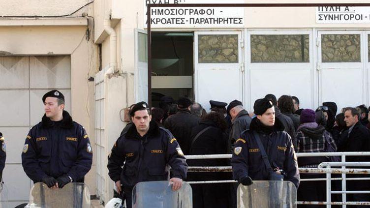 (© MaxPPP / Près de 4 000 détenus grecs en grève de la faim dans tout le pays.)