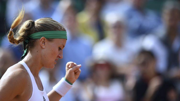 Kristina Mladenovic poursuit sa route dans cette édition 2017 de Roland-Garros. (FRANCOIS XAVIER MARIT / AFP)