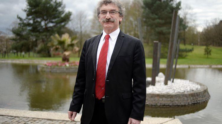 Jean-Luc Chenut, président socialiste du Conseil départemental d'Ille-et-Vilaine, à Rennes, le 2 avril 2015. (JEAN-SEBASTIEN EVRARD / AFP)