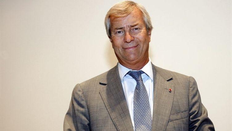Le PDG du groupe éponyme, Vincent Bolloré, le 01/09/10 (AFP Patrick Kovarik)