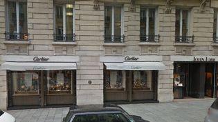 La bijouterie Cartier située au 51 rue François 1er, dans le 8e arrondissement de Paris. (GOOGLE STREET VIEW / FRANCETV INFO)