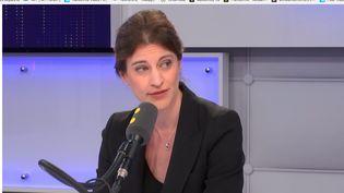Juliette Méadel, invitée de franceinfo, le 10 avril 2018. (RADIO FRANCE / FRANCE INFO)