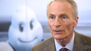 Le président de Michelin, Jean-Dominique Senard (THIERRY ZOCCOLAN / AFP)