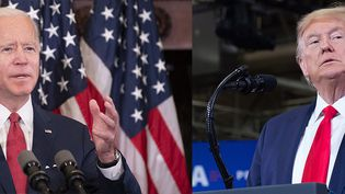 Montage Joe Biden (gauche) / Donald Trump (droite). (JIM WATSON / SAUL LOEB / AFP)