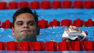 Florent Manaudou, le 2 août 2013,aux championnats du monde de Barcelone (Espagne). (MICHAEL DALDER / REUTERS)